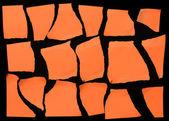 Set Of Orange Torn Paper — Stock Photo