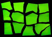 Set Of  Green Torn Paper — Stock Photo