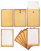 Set Of Brown Envelope — Stock Photo
