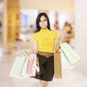 Asian Shopping Woman — Stock Photo
