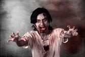 Creepy male zombie — Stock Photo
