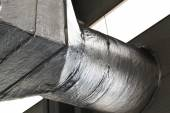 Ducts of industrial ventilation system — Stock Photo