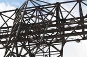 Typ ložiska kovových konstrukcí Portálový jeřáb — Stock fotografie
