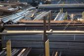 Warehouse rolled metal — Stock Photo