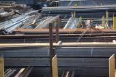 Warehouse rolled metal — 图库照片