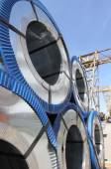 Gegalvaniseerd staal met polymeercoating gerold — Stockfoto