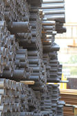 Metal profiles tube foundation for building structures — Stock Photo
