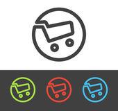 Vector shopping cart icon — Stock Vector