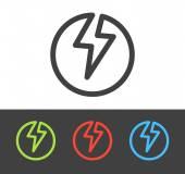 Vector lightning bolt icon — Stock Vector