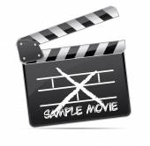 Used movie clapper — Stock Vector