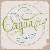 ORGANIC hand lettering — Stock Vector