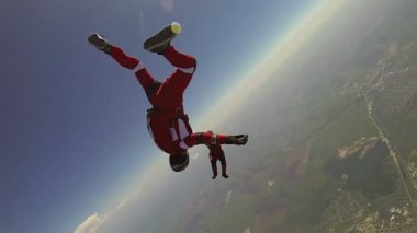 Skydiving extreme video. — Stok video