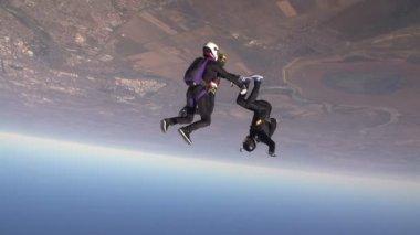 Fallschirmspringer sammelt Abbildung im freien Fall — 图库视频影像