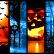 Set of halloween symbols - dark background — Stock Photo #54093945