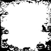 Halloween frame border isolated on white — Stock Photo