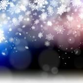 Elegant christmas achtergrond sneeuwvlokken illustratie — Stockfoto