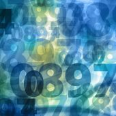 Bright numbers square background — Stockfoto