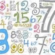Colorful numbers background — Stock Photo #55061993