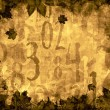 Autumn leaves time numbers vintage background — Stock Photo #57658209