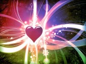 Colorful love abstract valentine background — Stock Photo