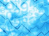 Arrows numbers financial light blue background — Stock Photo