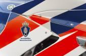 Military police motorbike — Stock Photo