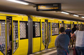 Berlin subway station — Stock Photo