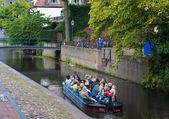 Boat in canal — Stock Photo