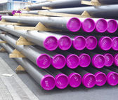 Stacked pvc pipes — Stock Photo