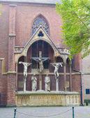 Chist monument in dusseldorf — Zdjęcie stockowe