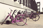 Pink bicycles — Foto de Stock