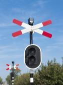 铁路道口标志 — 图库照片