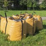 Waste debris bags — Stock Photo #65820889