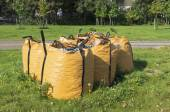 Odpadní úlomky tašek — Stock fotografie
