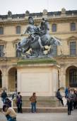 King Louis XIV statue in paris — Stock Photo