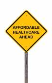 Caution Sign - Affordable Healthcare Ahead — Foto de Stock