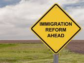 Caution - Immigration Reform Ahead — ストック写真