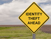 Caution - Identity Theft Ahead — Stock Photo