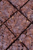 Rhombus cut crusty brownie — Stock Photo