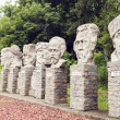 Famous Romanian personalities statues from Cuza's castle in Ruginoasa, Romania — Stock Photo #57731269