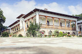 Building with rooms in Varatec Monastery, Moldavia, Romania — Stock Photo