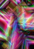 Bright background of intersecting multicolored squares — Stock Photo