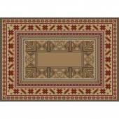 Luxurious oriental rug with original patternBasic RGB — Vector de stock