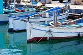 Old fishing boat in Sardinia — Stock Photo