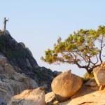 Rocks at Cala Sinzias beach on Sardinia island — Stock Photo #55279777