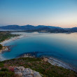 Aerial view of Villasimius beach, Sardinia, Italy — Stock Photo #55279785