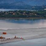 Aerial view of Villasimius beach, Sardinia, Italy — Stock Photo #55279791