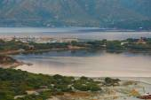 Aerial view of Villasimius beach, Sardinia, Italy — Foto de Stock