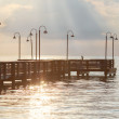 Wooden pier over ocean in the Florida Keys — Stock Photo #67660655