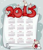 New Year's calendar 2015 — Stock Vector